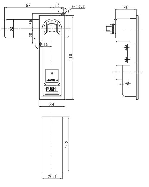 MS104电柜门锁