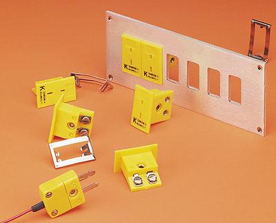 omega面板安裝式熱電偶插座