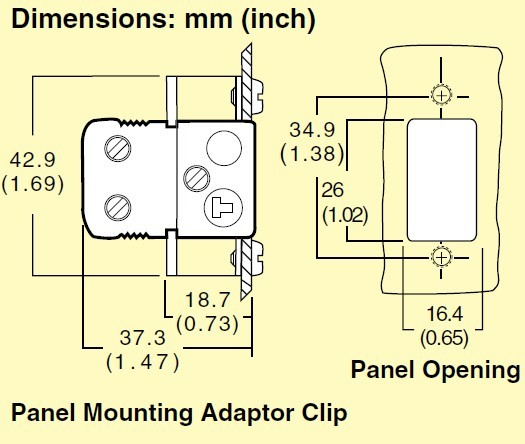 NHJP系列omega熱電偶插座安裝支架