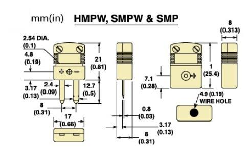 SMPW-(*)-M系列微小迷你型热电偶插头 SMPW-(*)-F系列微小迷你型热电偶插座