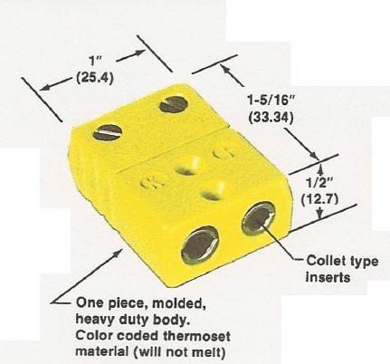美國Marlin馬林高溫熱電偶插座-尺寸圖