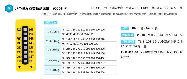 TL-8系列八格测温纸
