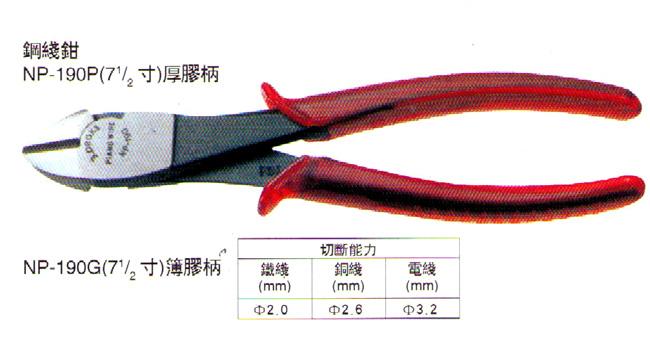 NP-190P剪钳|日本三山牌3.PEAKS剪钳