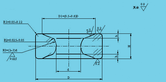 双油槽弧孔宝石轴承