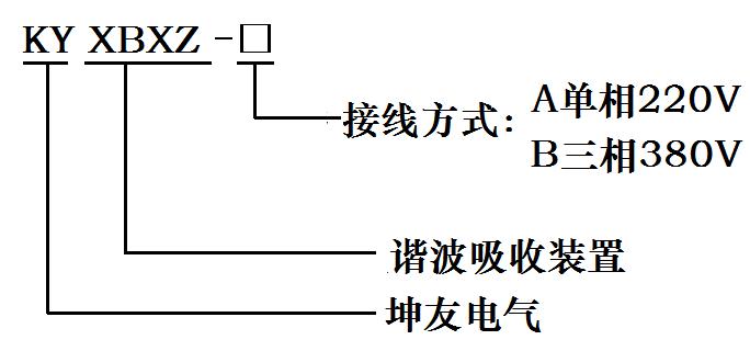 諧波吸收裝置型號說明