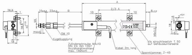 電子尺 位移傳感器
