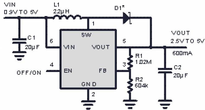 600mA高頻率高效率大功率PWM升壓LY3400