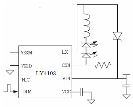 5.5V~36V輸入800MA輸出高亮度LED 驅動器LY4108