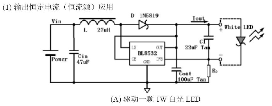 0.8V~4.5V輸入1.5W LED升壓恆流驅動BL8532