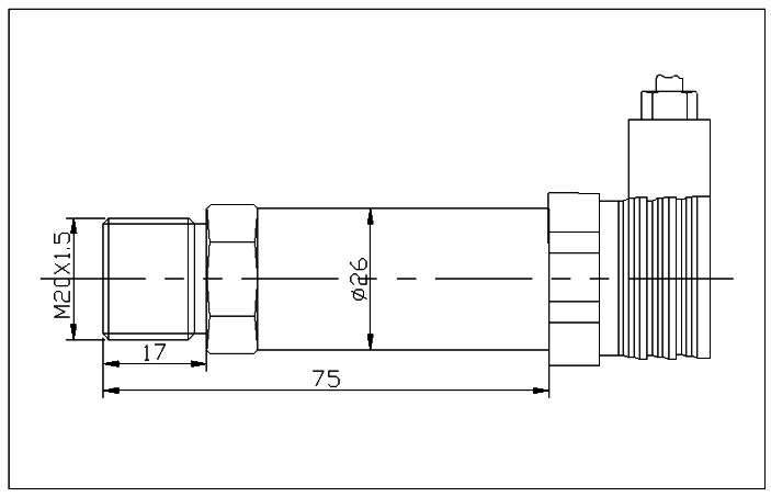 液壓傳感器尺寸圖