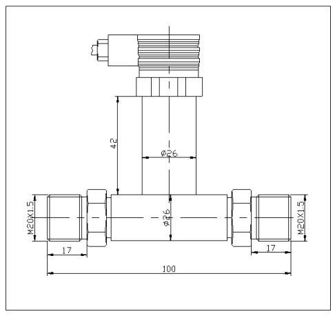 差压变送器PY302尺寸图