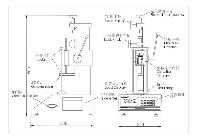 SD-10,SD-20数显弹簧拉压试验机(价格特优)