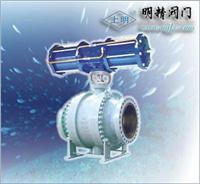 氣動活塞式兩段切斷球閥 Q641F
