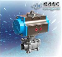 氣動三片式焊接球閥 Q611F型