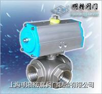 氣動三通內螺紋球閥 Q614F