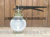 氟手動蝶閥   D71FS-10-150