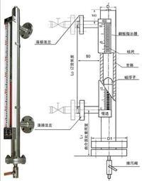 磁翻板液位計廠家/磁翻柱液位計 TY-UHZ511