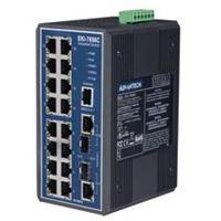 研华工业级16+2G光电组合Combo端口网管型冗余千兆以太网交换机 EKI-7656C