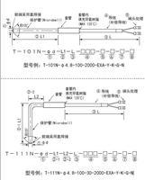 T-101N/T-111N高溫鎧裝熱電偶測溫探頭