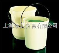 美國Nalgene  帶刻度水桶,白色聚丙烯;尼龍*緣提環,7012-0110,10.4L 7012-0110,10.4L