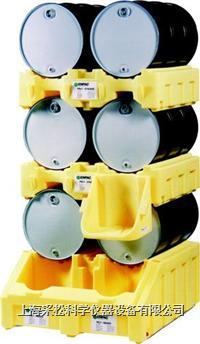 双桶三层分装盛漏堆栈系统 Enpac,6000-YE,2个6002-YE,6003-YE