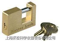 实心黄铜方形锁 Master lock,606,63mm宽锁体,10mm粗锁钩,小号