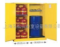 115加仑JUSTRITE油桶存放柜(两用分隔式)