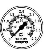 低价费斯托精密压力表 MAP-40-6-1/8-EN