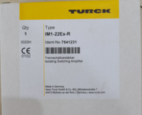 功能介紹TURCK圖爾克隔離放大器 IM1-22Ex-R