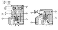 ATOS原装AGAM型先导式溢流阀,板式安装 AGAM-32/20/210/V IX230AC