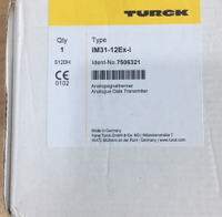 TURCK模擬量隔離柵IM31-12EX-I
