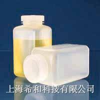 美國Nalgene 2110廣口方形瓶,聚丙烯;聚丙烯螺紋蓋 2110