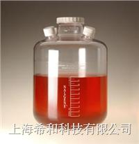 美國Nalgene 2600培養瓶(帶端口),聚碳酸酯,白色聚丙烯蓋 2600