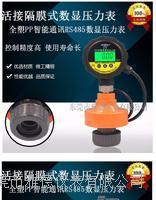 UPVC活接隔膜式全塑智能通訊RS485壓力表