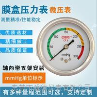 60MM軸向??支架0-300mmhg微壓表