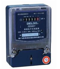 DDS607单相电子式电能表 DSS607 380V 1.0级 30(100)A485