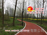紅色帕米亞孔透水混凝土路面鋪裝,透水砼強固劑供應,上海睿龍廠家