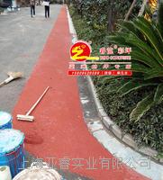 瀝青路面彩化,彩色陶瓷顆粒防滑路面施工 WDO121