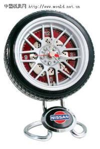*新超酷轮胎钟,轮胎挂钟,轮胎钟时计、收音机!