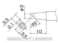 T12-BCM3白光牌原装进口烙铁头