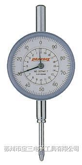 207F-T日本孔雀牌PEACOCK牌针盘式百分表 日本PEACOCK牌207F-T百分表 孔雀207F-T针盘式量表