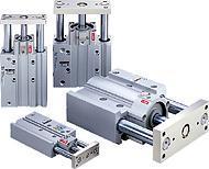 SMC帶導桿的薄型鎖緊氣缸 SMC
