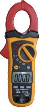 小型雙注塑自動量程交/直流鉗型表DT-362原理 DT-362