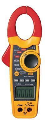雙注塑交直流鉗形表DT-3343原理香港CEM總代理 DT-3343