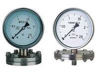 法兰式不锈钢膜片压力表 YPF-100B-F 0~0.6Mpa