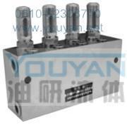雙線分配器 2SSPQ-L3 4SSPQ-L3 6SSPQ-L3 8SSPQ-L3 油研雙線分配器 YOUYAN雙線分配器   2SSPQ-L3 4SSPQ-L3 6SSPQ-L3 8SSPQ-L3