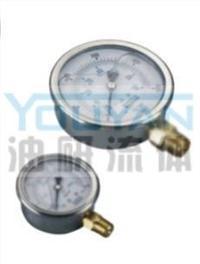 耐震壓力表 AT-50-35K AT-50-50K AT-50-70K AT-50-100K 油研耐震壓力表 AT-50-35K AT-50-50K AT-50-70K AT-50-100K