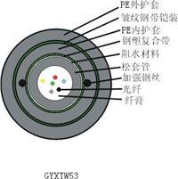 标准中心束管式加强铠光缆(GYXTW53) GYXTW53