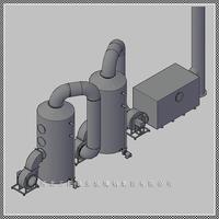 供应WYB系列玻璃钢酸雾吸取塔