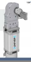 安裝UNIVER的大力翻轉氣缸/夾爪氣缸